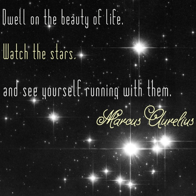 quote on a starry background